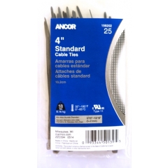 4-inch Cable Ties - Ancor 199202_SM