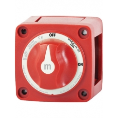 M-Series Mini On-Off Battery Switch with Knob - Red