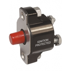 Medium Duty Push Button Reset Only Circuit Breaker - 15A