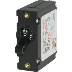 A-Series Black Toggle Circuit Breaker - Single Pole 15A