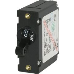 A-Series Black Toggle Circuit Breaker - Single Pole 25A
