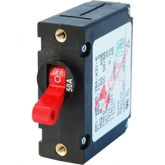 A-Series Red Toggle Circuit Breaker - Single Pole 50A