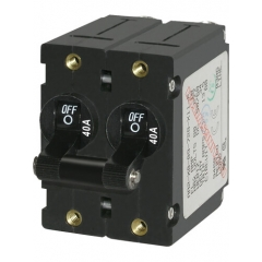 A-Series Black Toggle Circuit Breaker - Double Pole 40A