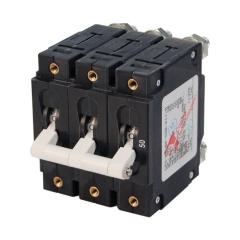 C-Series White Toggle Circuit Breaker - Triple Pole 50 Amp