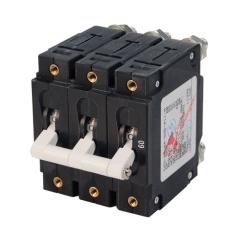 C-Series White Toggle Circuit Breaker - Triple Pole 60 Amp