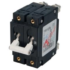 C-Series White Toggle Circuit Breaker - Double Pole 30 Amp