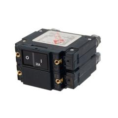 C-Series Flat Rocker Circuit Breaker - Double Pole 30A AC