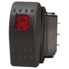 OFF-ON Black Contura II Switch LED SPST