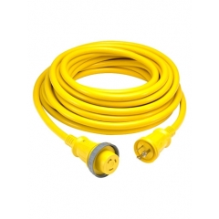 Hubbell HBL61CM08LED Yellow Shore 50 Ft. Cable Set with LED Indicator
