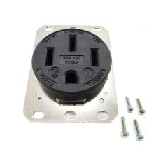 Hubbell HBL9450A 50 Amp 125/250 Volt Black Receptacle