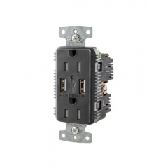 Small Hubbell USB15A5BK