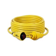50 ft. 30 Amp 125 Volt Yellow Eel Shore Cordset