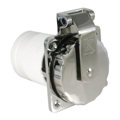 Marinco 6373EL-B 50 Amp 125/250 Volt Stainless Steel Power Inlet