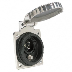 Stainless Steel Phone & Cable TV Inlet